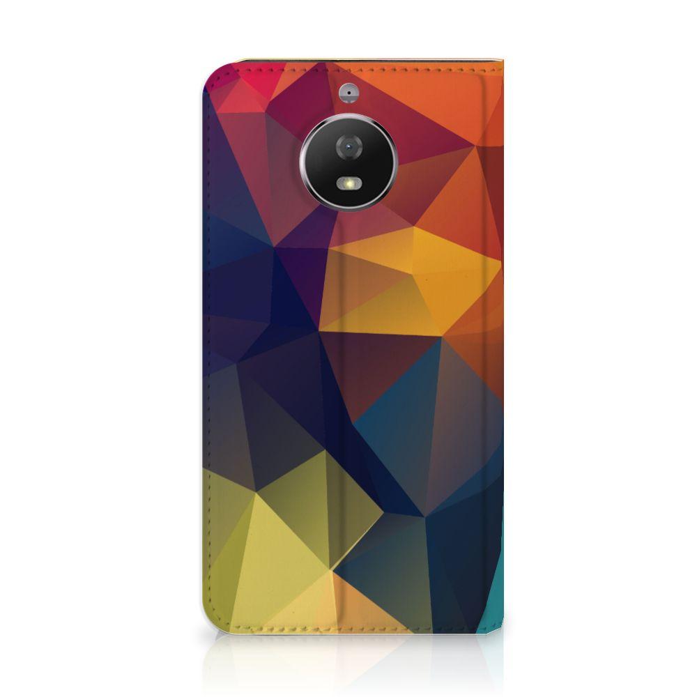Motorola Moto G5S Stand Case Polygon Color