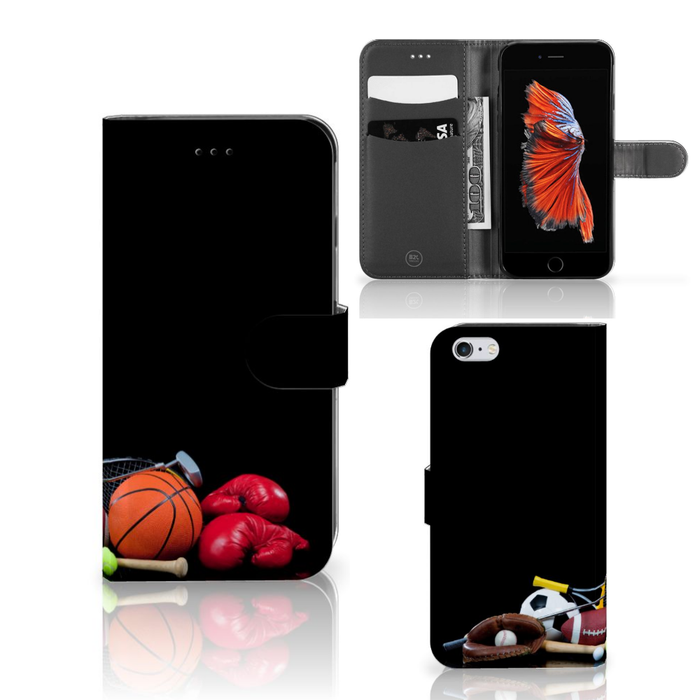 Apple iPhone 6 Plus | 6s Plus Wallet Case met Pasjes Sports