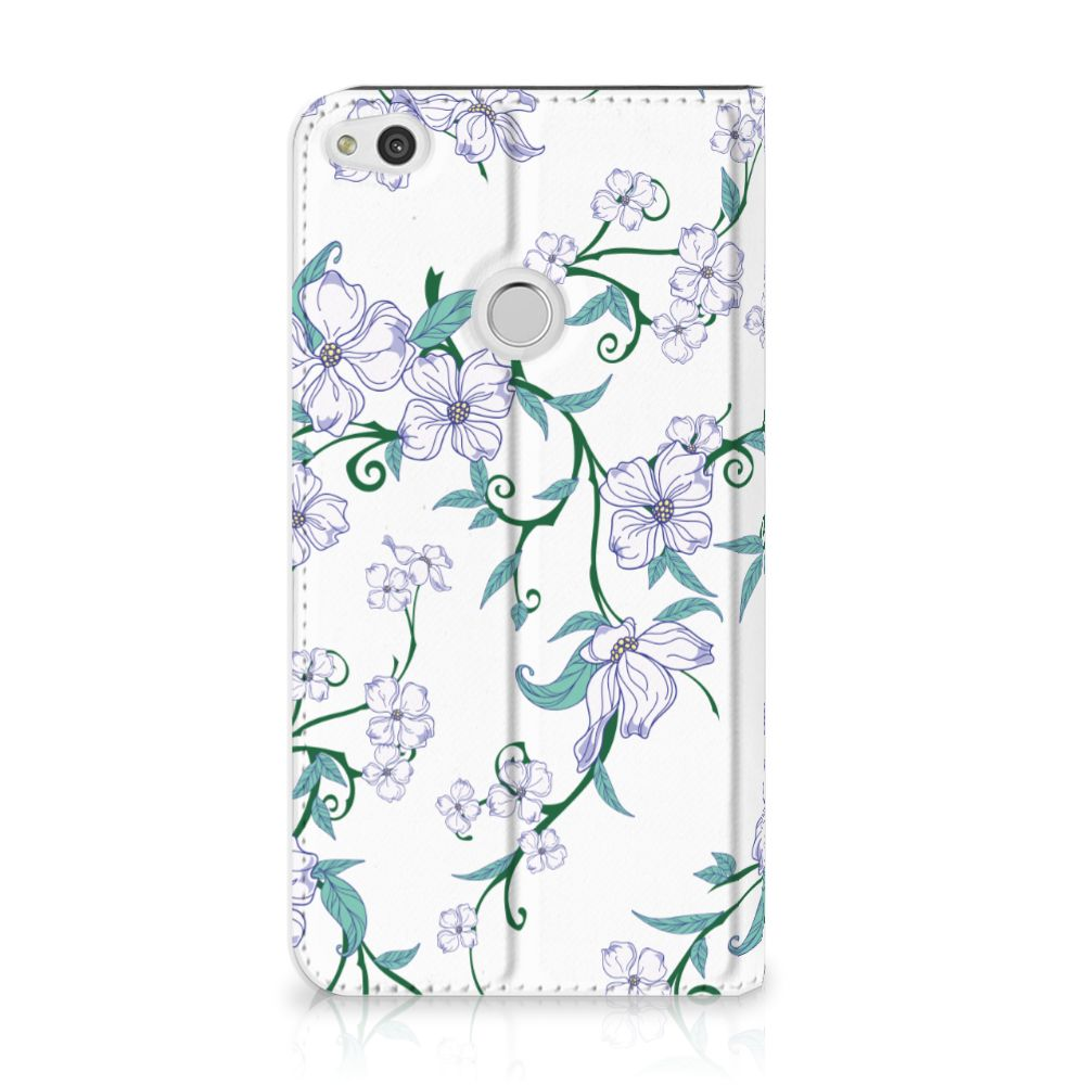 Huawei P8 Lite 2017 Uniek Standcase Hoesje Blossom White