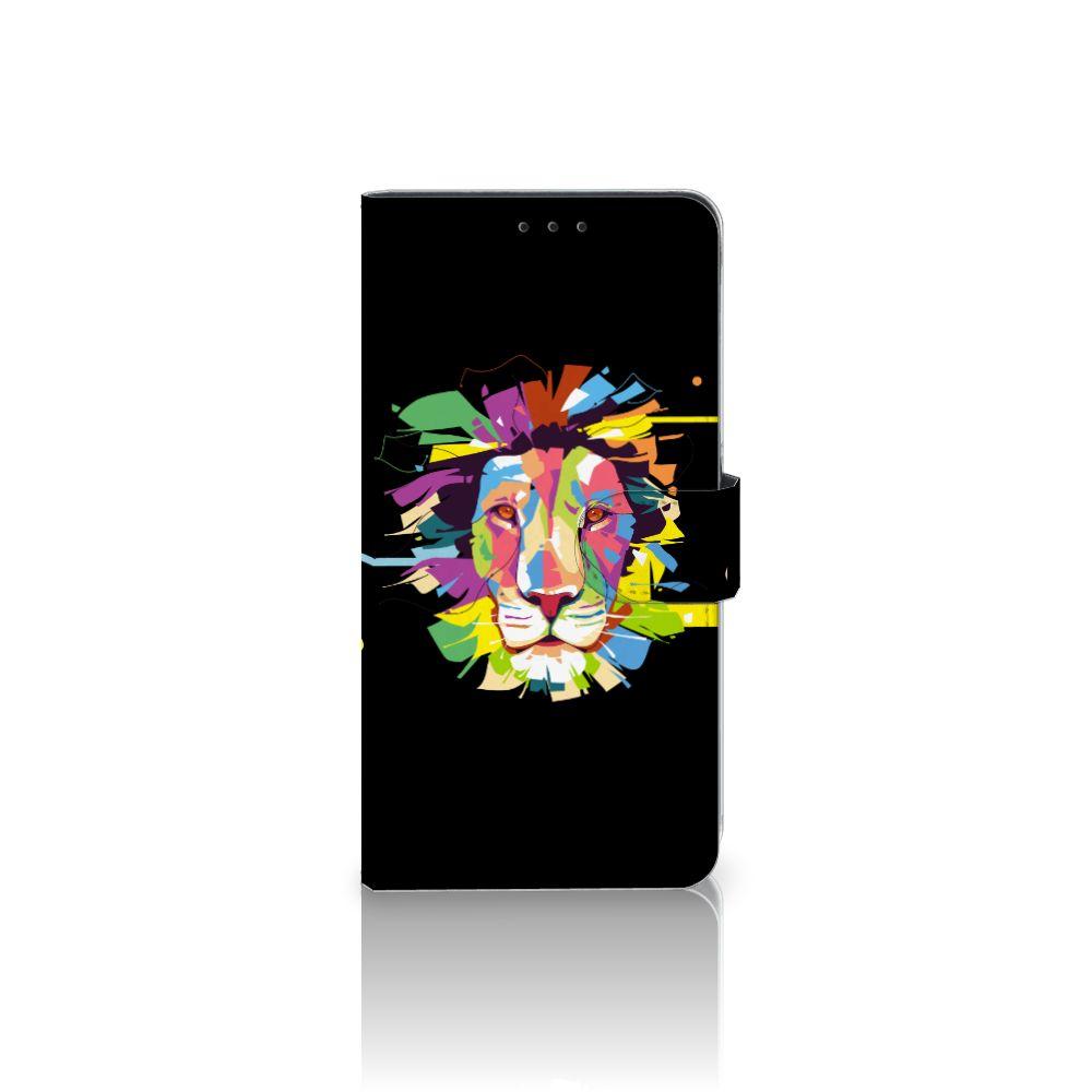 Samsung Galaxy A8 Plus (2018) Uniek Boekhoesje Lion Color