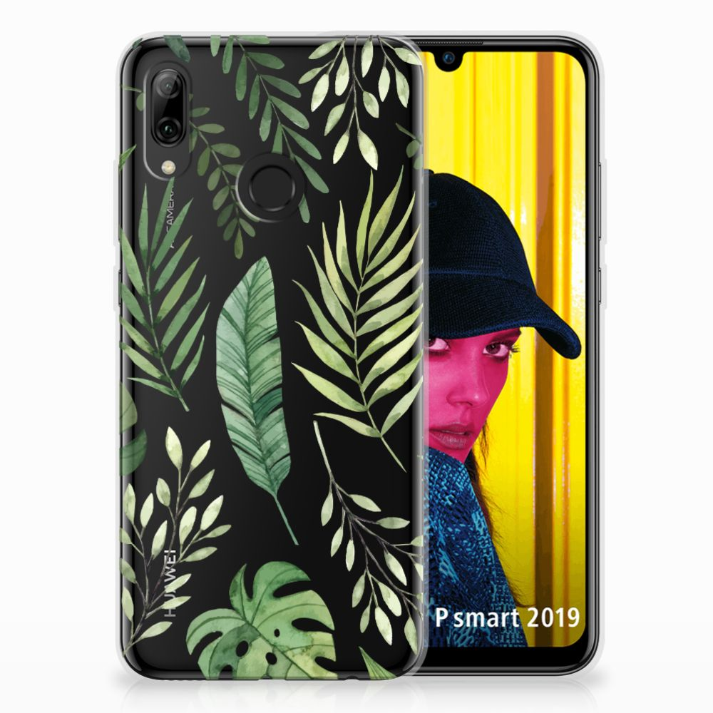 Huawei P Smart 2019 Uniek TPU Hoesje Leaves