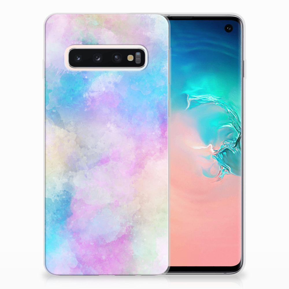 Samsung Galaxy S10 Uniek TPU Hoesje Watercolor Light