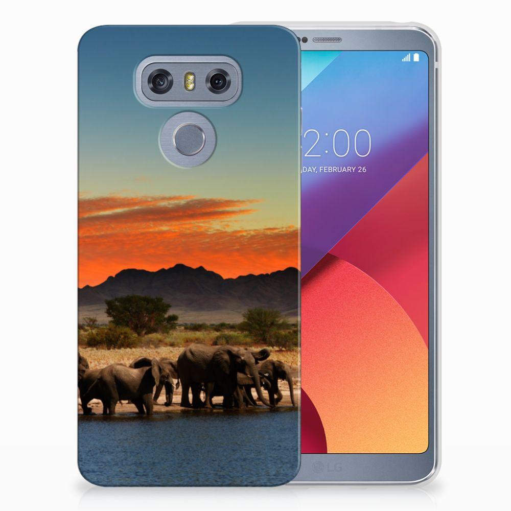 LG G6 TPU Hoesje Design Olifanten