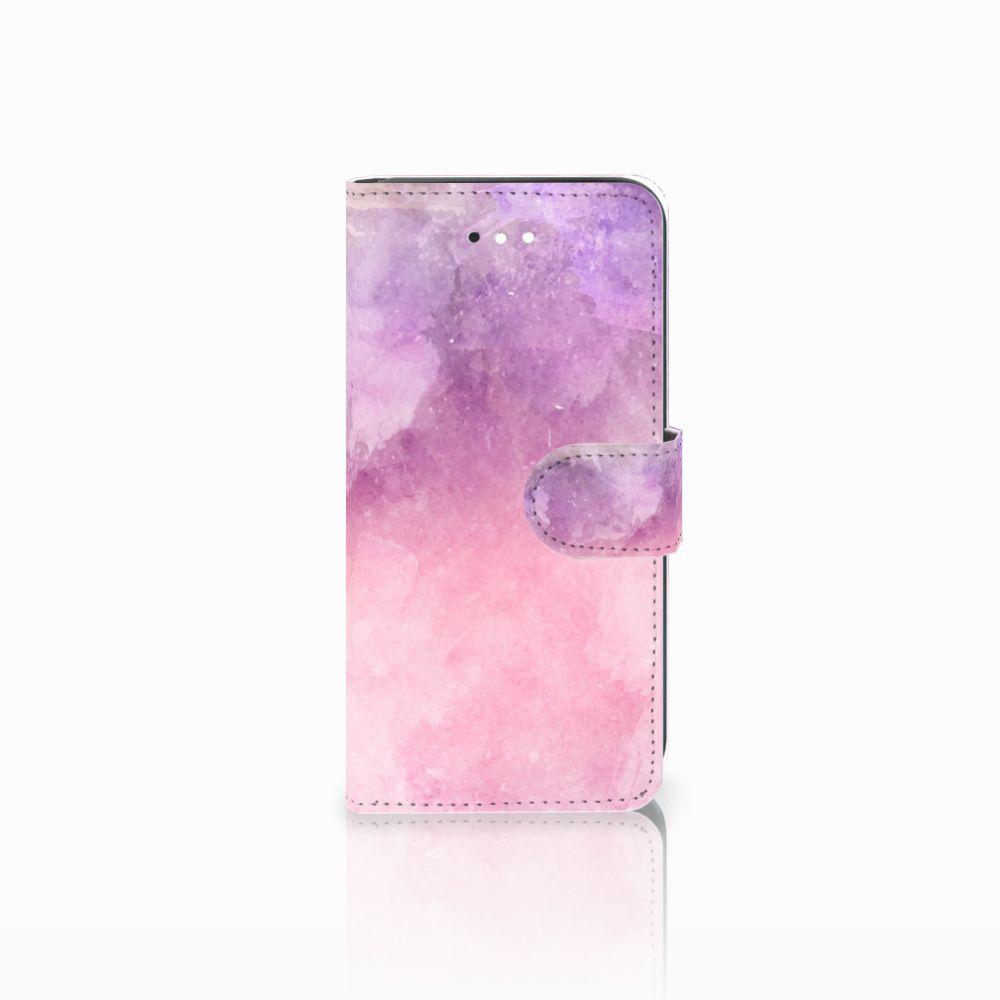 LG K11 Boekhoesje Design Pink Purple Paint