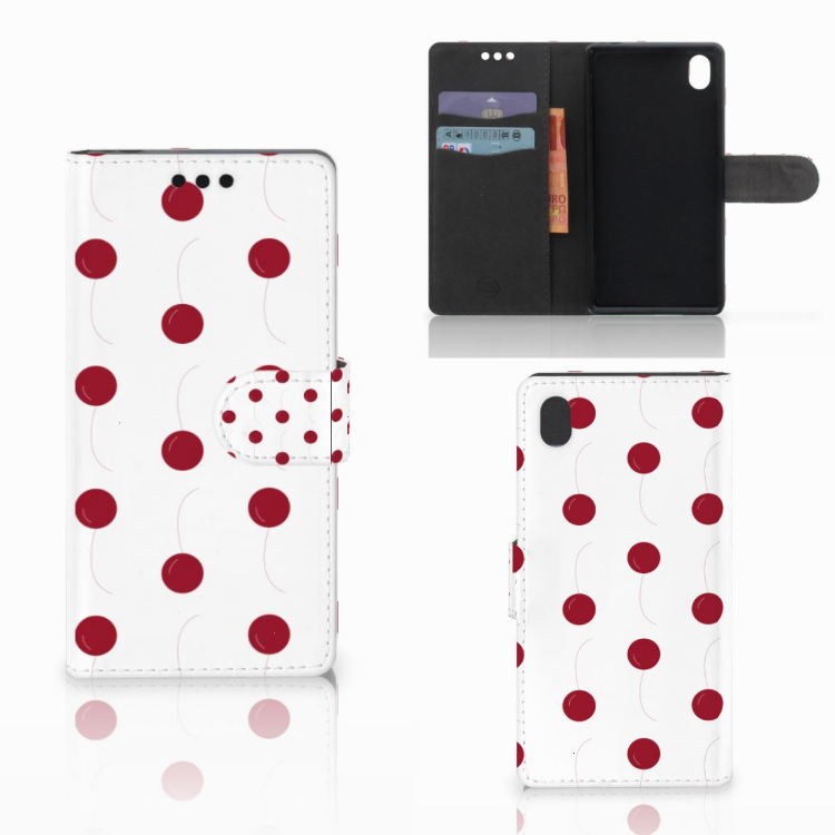 Sony Xperia M4 Aqua Book Cover Cherries