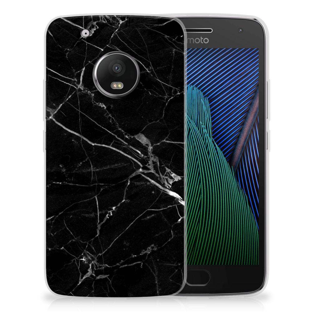 Motorola Moto G5 Plus TPU Hoesje Marmer Zwart
