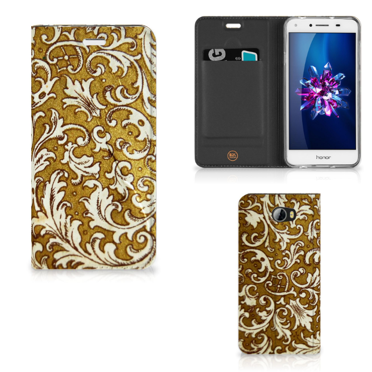 Telefoon Hoesje Huawei Y5 2 | Y6 Compact Barok Goud