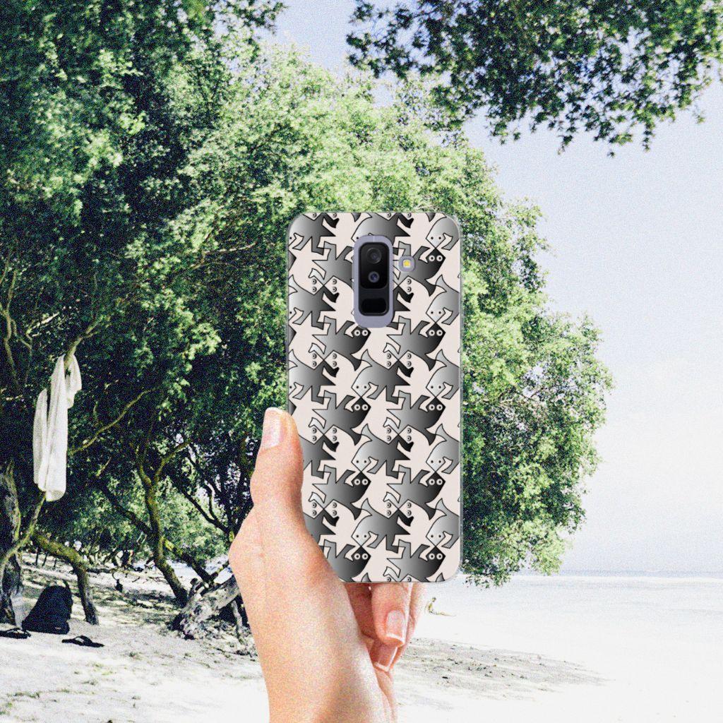 Samsung Galaxy A6 Plus (2018) TPU Hoesje Salamander Grey