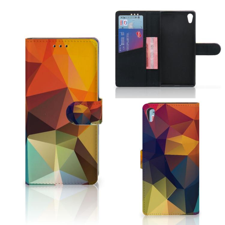 Sony Xperia XA1 Ultra Bookcase Polygon Color