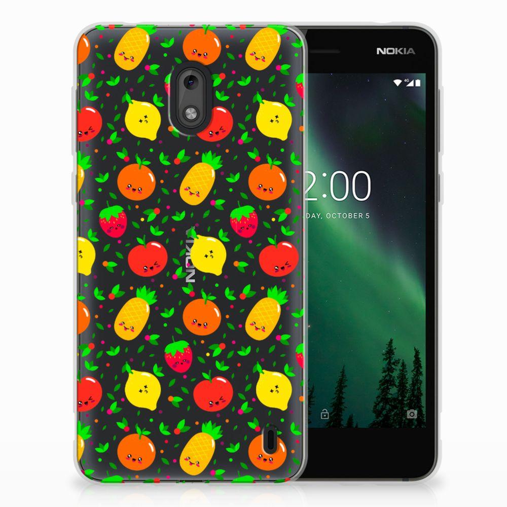 Nokia 2 Siliconen Case Fruits