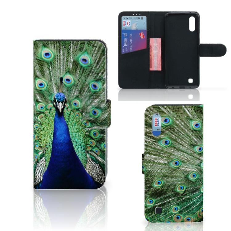Samsung Galaxy M10 Telefoonhoesje met Pasjes Pauw