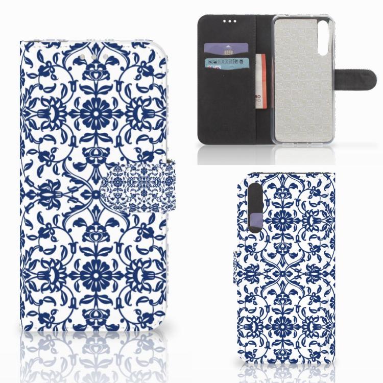 Huawei P20 Pro Hoesje Flower Blue