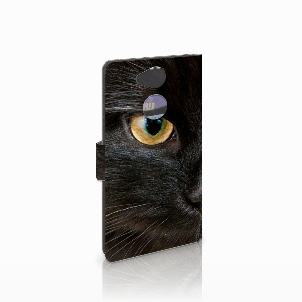 Sony Xperia XA2 Uniek Boekhoesje Zwarte Kat