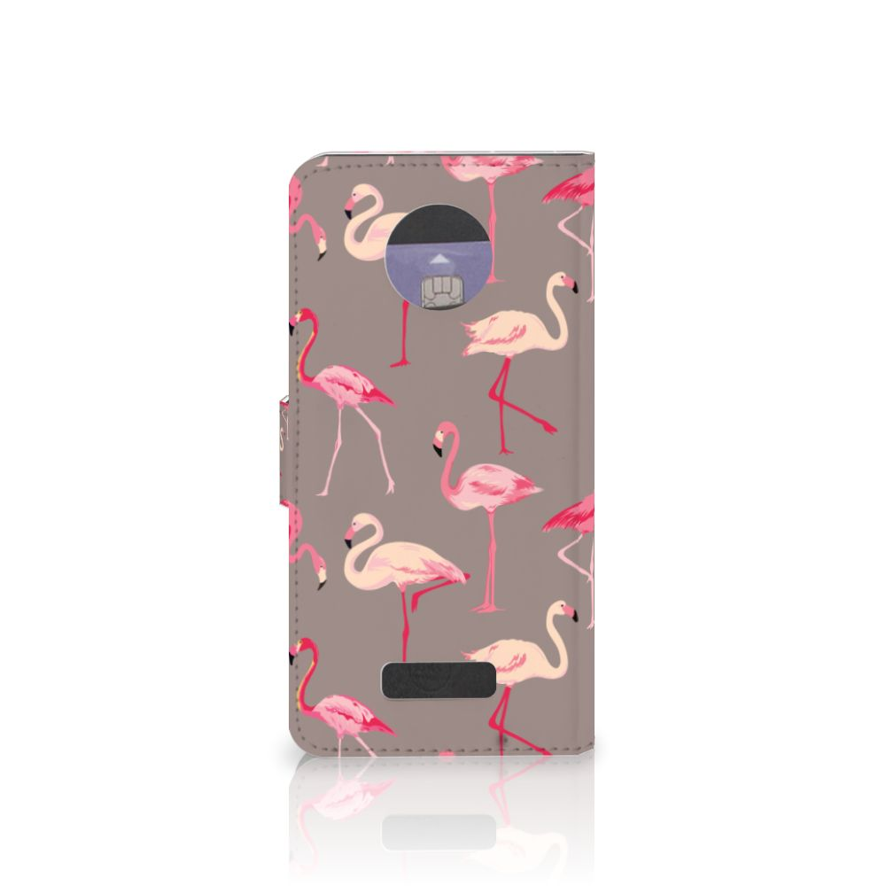 Motorola Moto Z Telefoonhoesje met Pasjes Flamingo