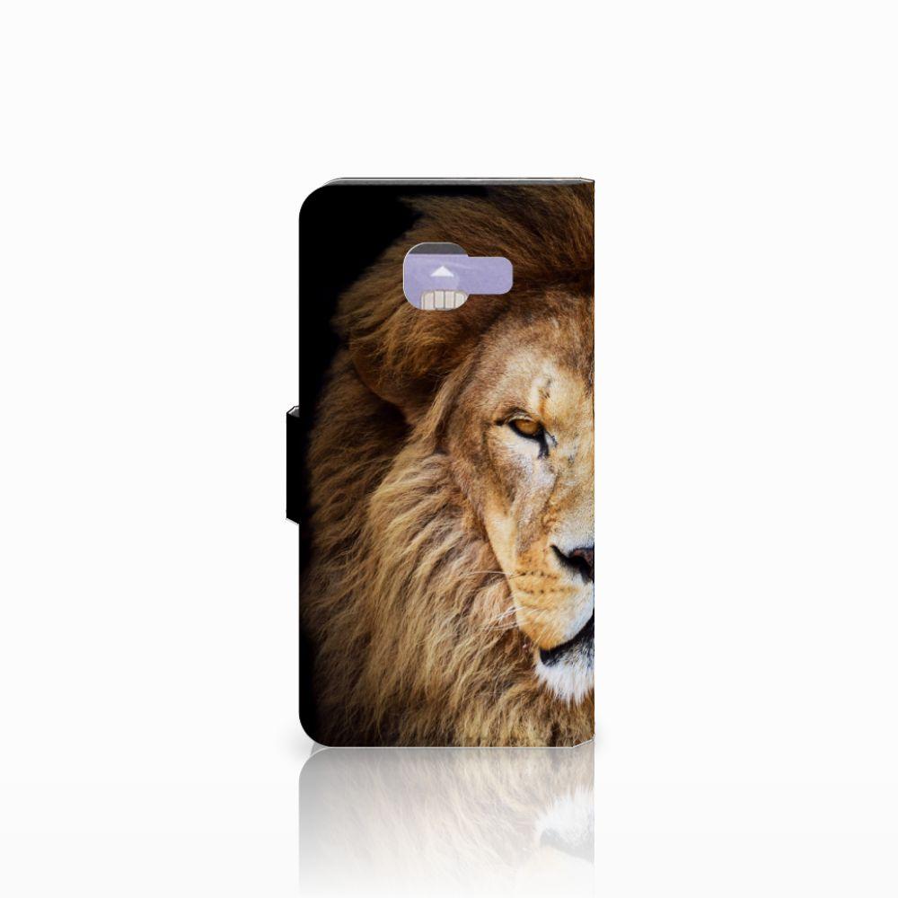 Samsung Galaxy A3 2016 Telefoonhoesje met Pasjes Leeuw