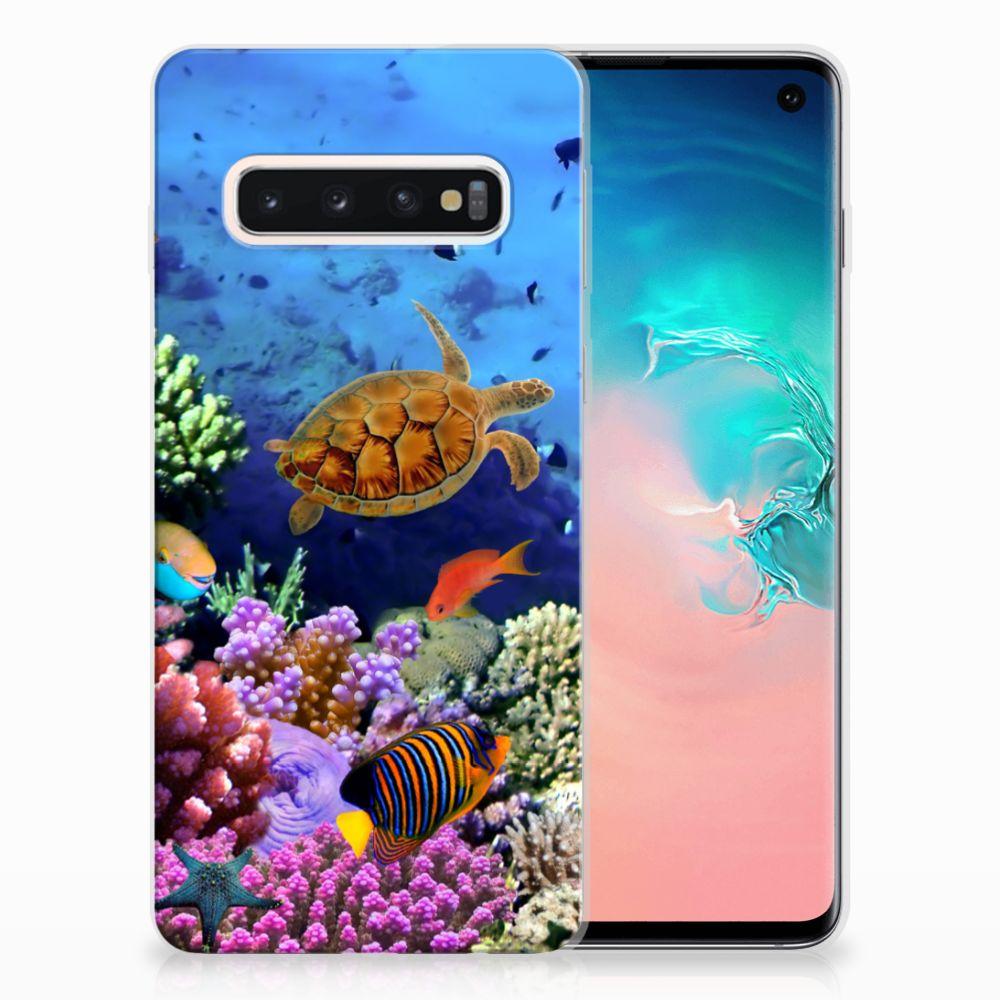 Samsung Galaxy S10 TPU Hoesje Design Vissen