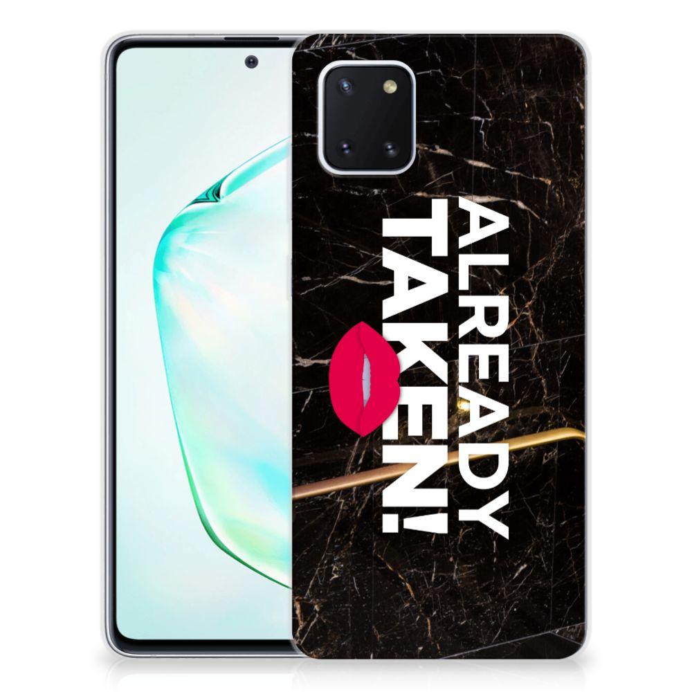 Samsung Galaxy Note 10 Lite Siliconen hoesje met naam Already Taken Black