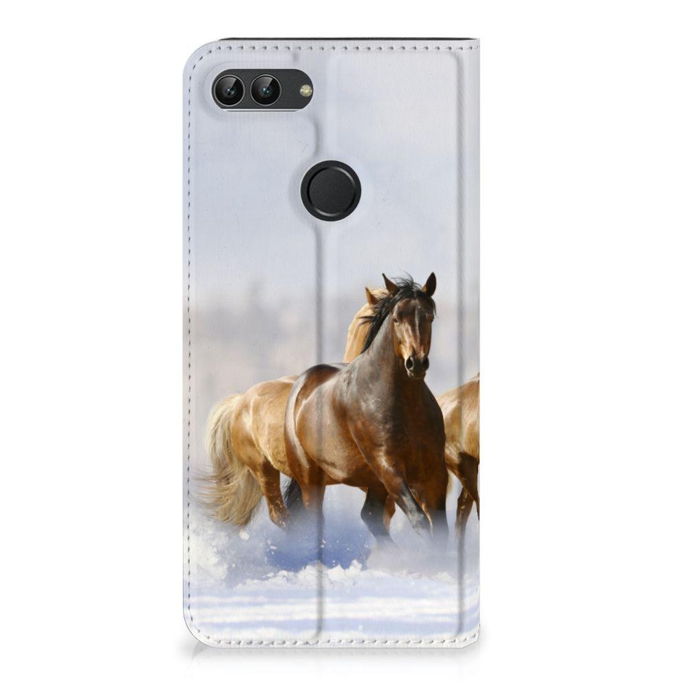 Huawei P Smart Uniek Standcase Hoesje Paarden