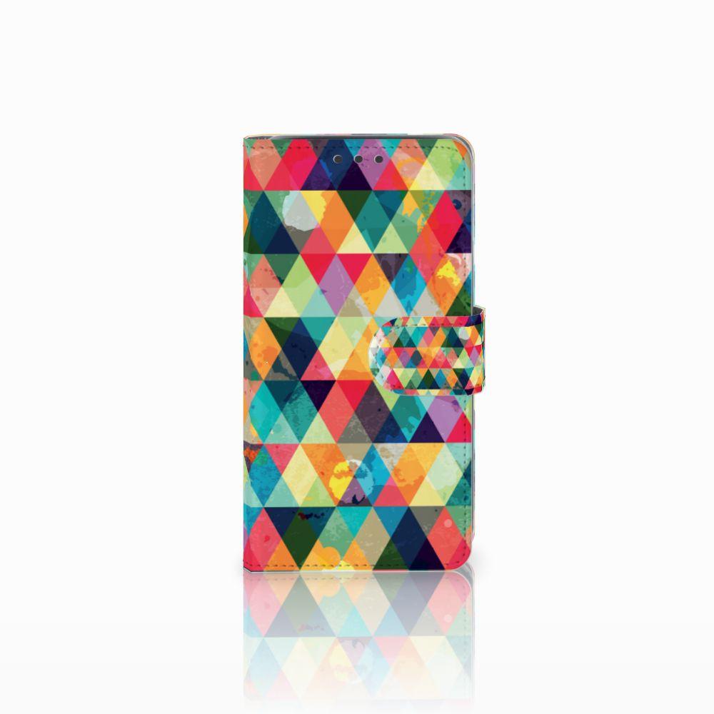 Samsung Galaxy J5 (2015) Uniek Boekhoesje Geruit