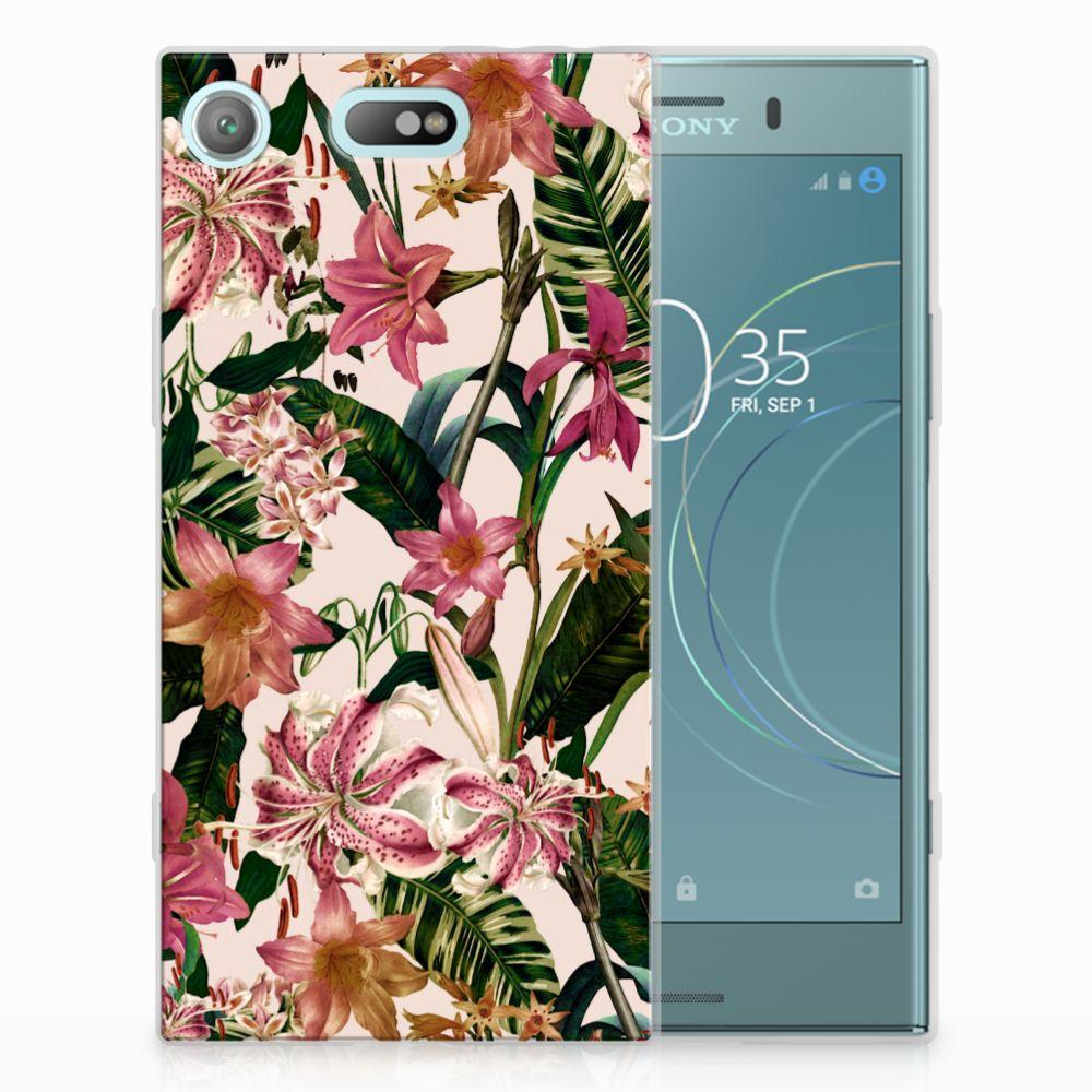 Sony Xperia XZ1 Compact Uniek TPU Hoesje Flowers