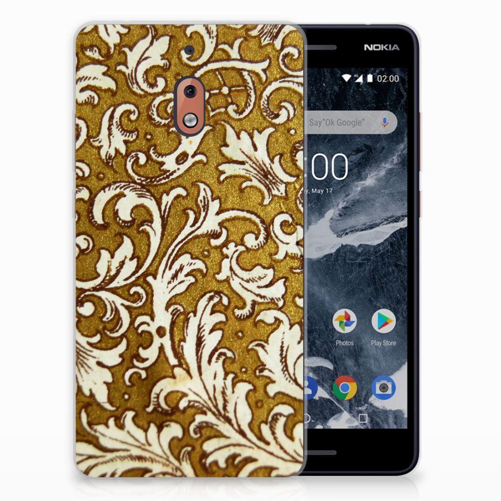 Nokia 2.1 (2018) TPU Hoesje Design Barok Goud