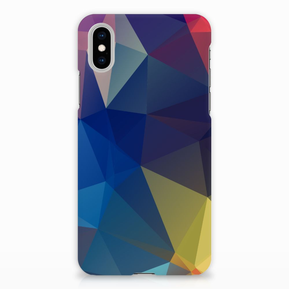 Apple iPhone X | Xs Uniek Hardcase Hoesje Polygon Dark