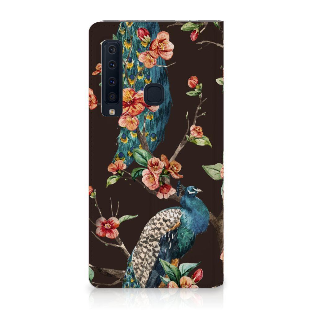 Samsung Galaxy A9 (2018) Standcase Hoesje Design Pauw met Bloemen