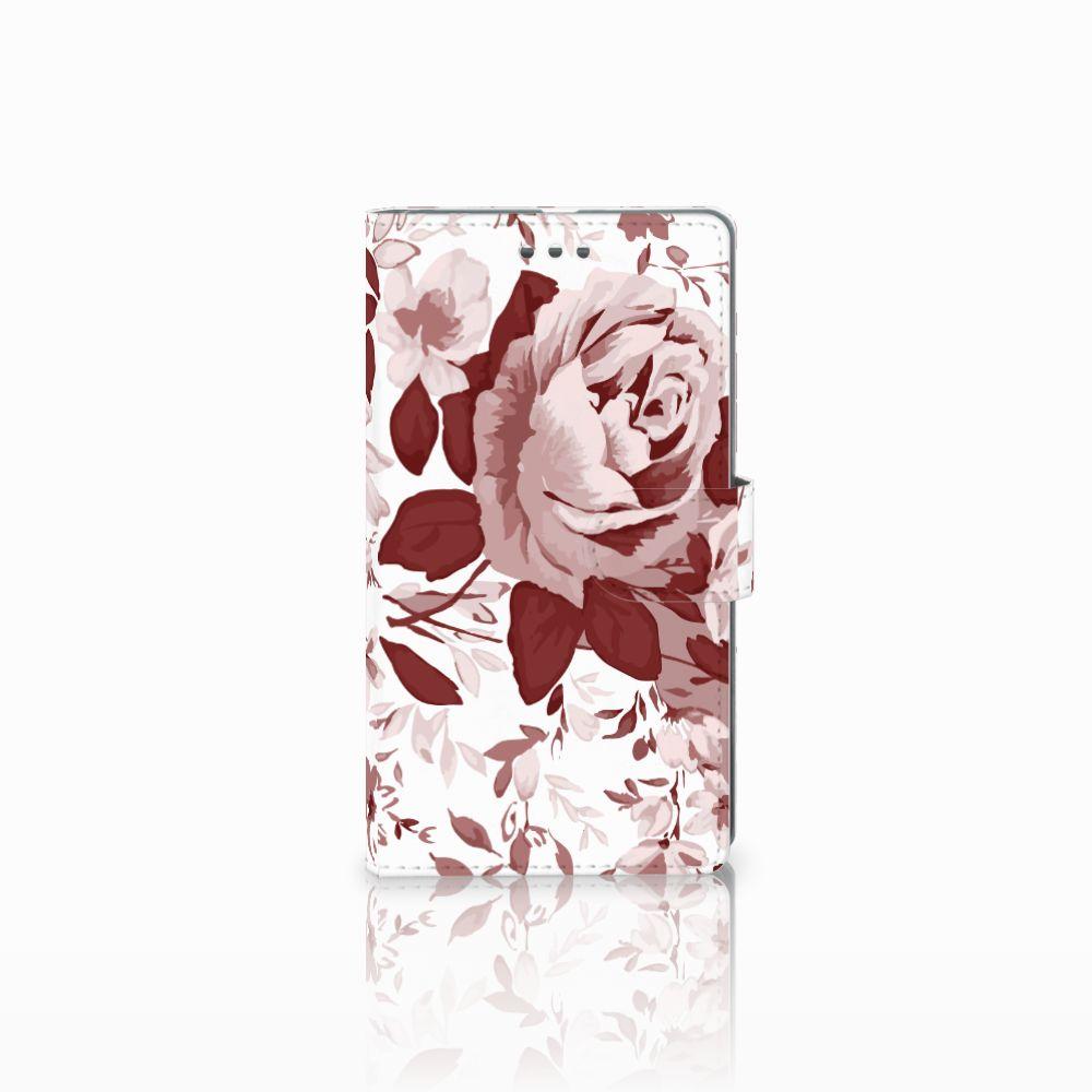Microsoft Lumia 950 XL Uniek Boekhoesje Watercolor Flowers