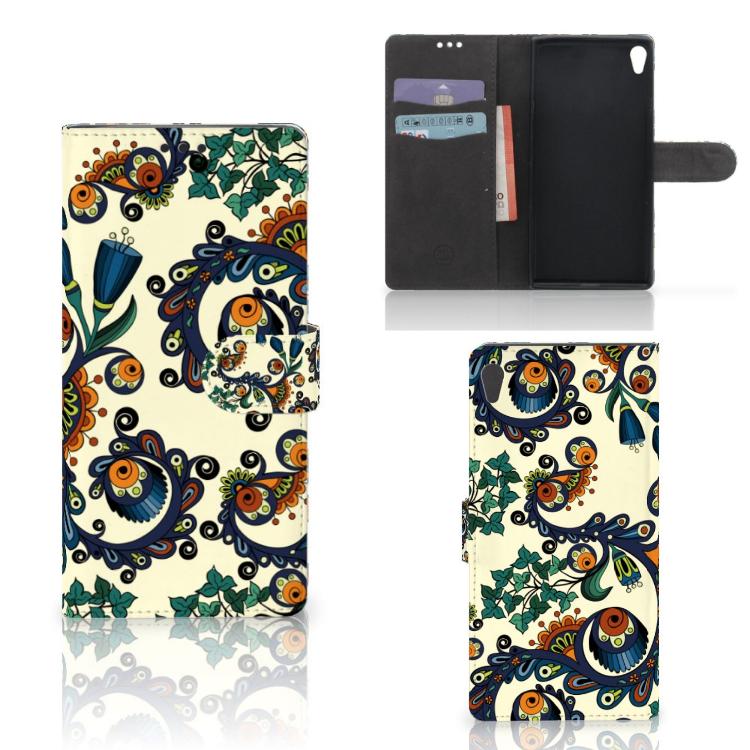 Wallet Case Sony Xperia XA Ultra Barok Flower