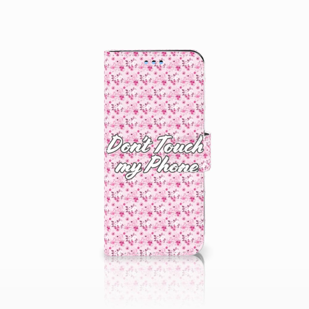 Samsung Galaxy S9 Uniek Boekhoesje Flowers Pink DTMP