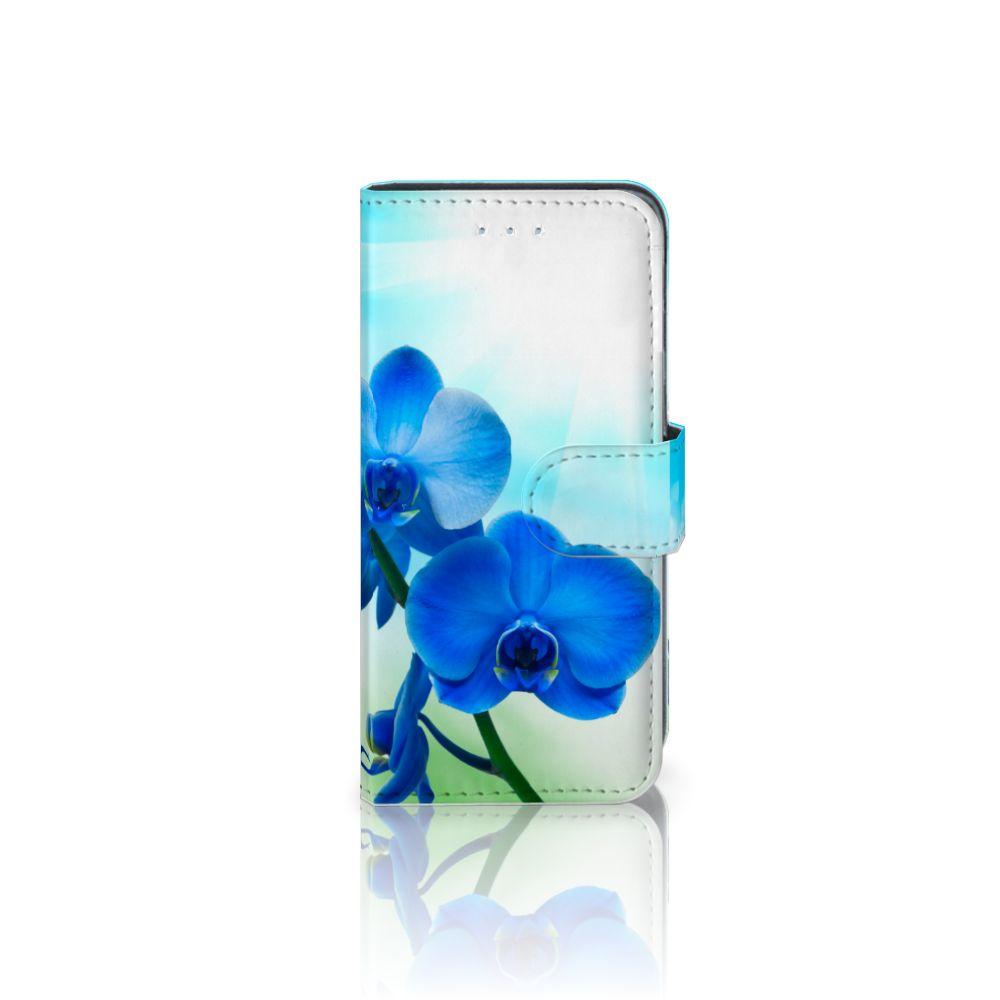 Samsung Galaxy A5 2016 Boekhoesje Design Orchidee Blauw