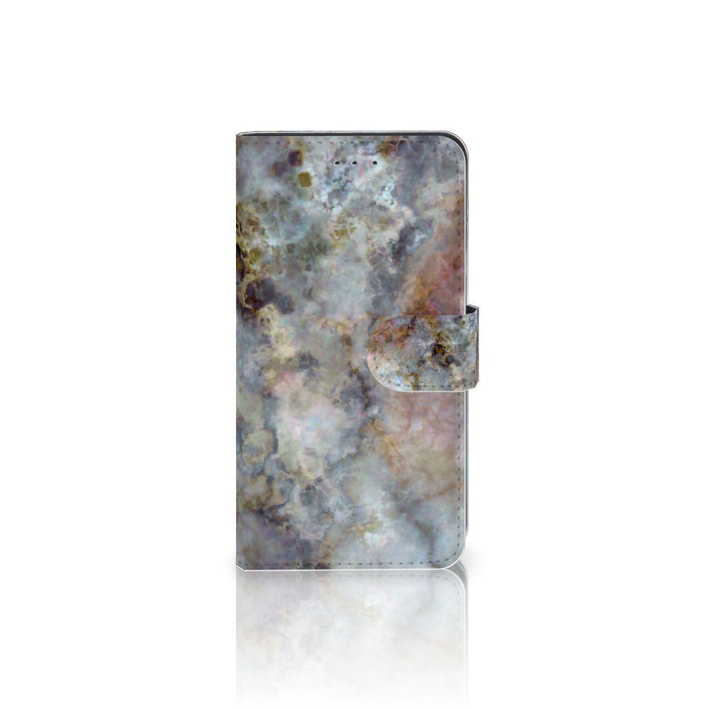 Samsung Galaxy J4 2018 Boekhoesje Design Marmer Grijs