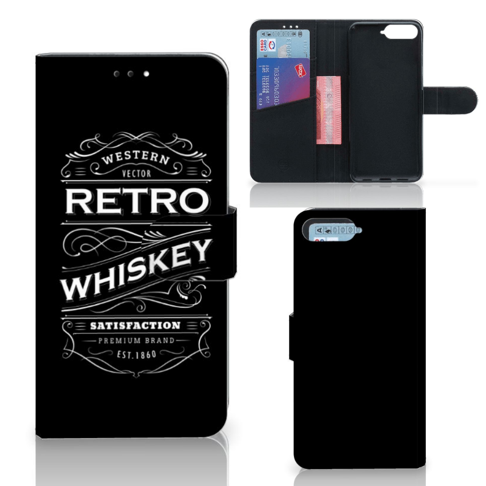 Huawei Y6 2018 Book Cover Whiskey