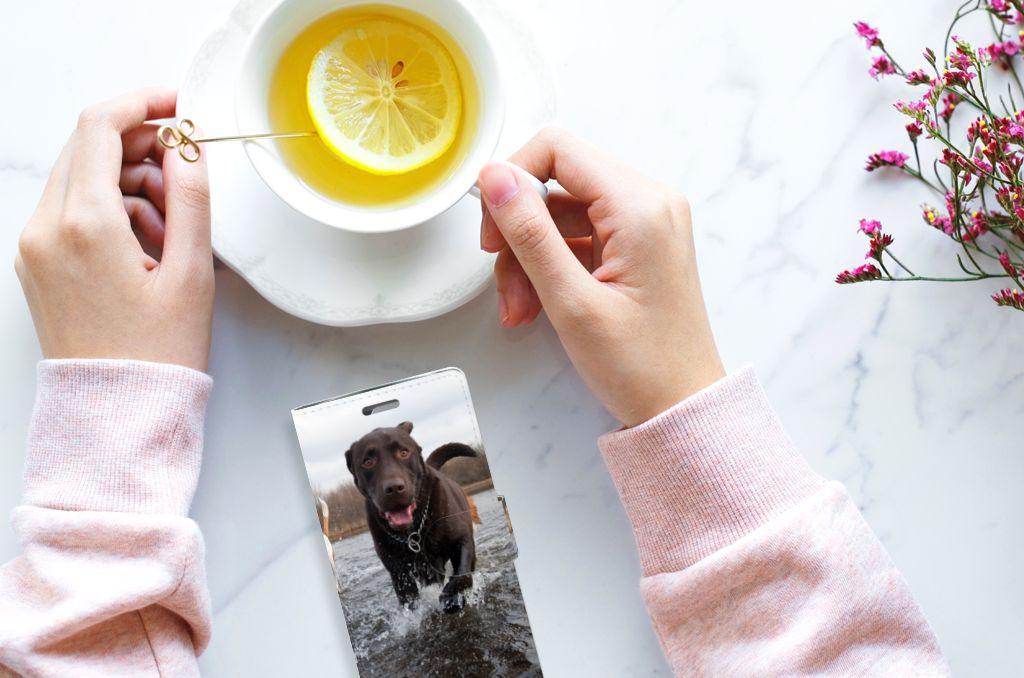 LG K10 2015 Telefoonhoesje met Pasjes Honden Labrador