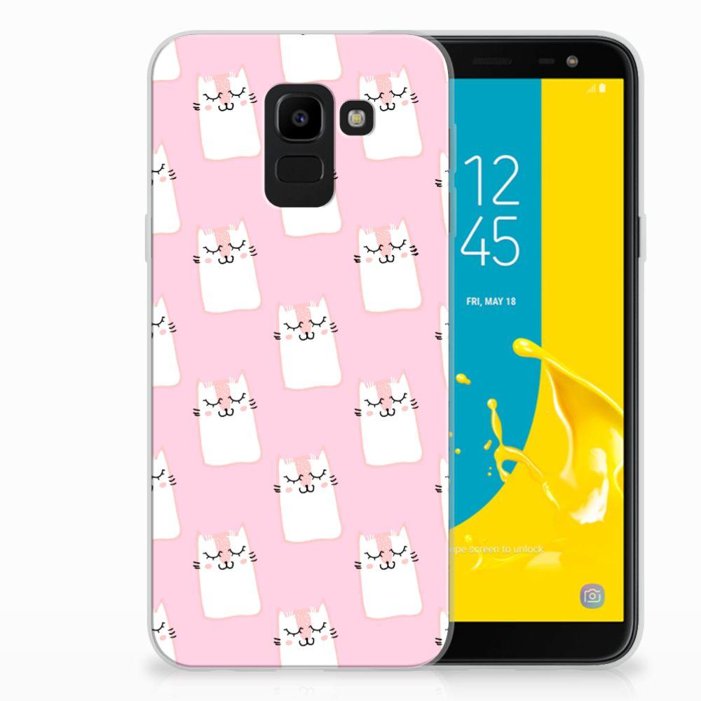 Samsung Galaxy J6 2018 Uniek TPU Hoesje Sleeping Cats