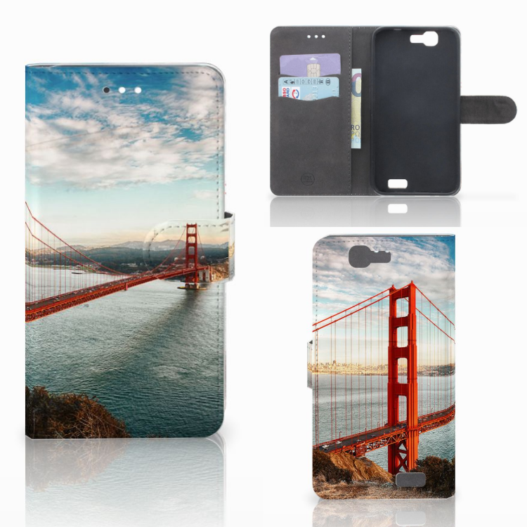 Huawei Ascend G7 Flip Cover Golden Gate Bridge