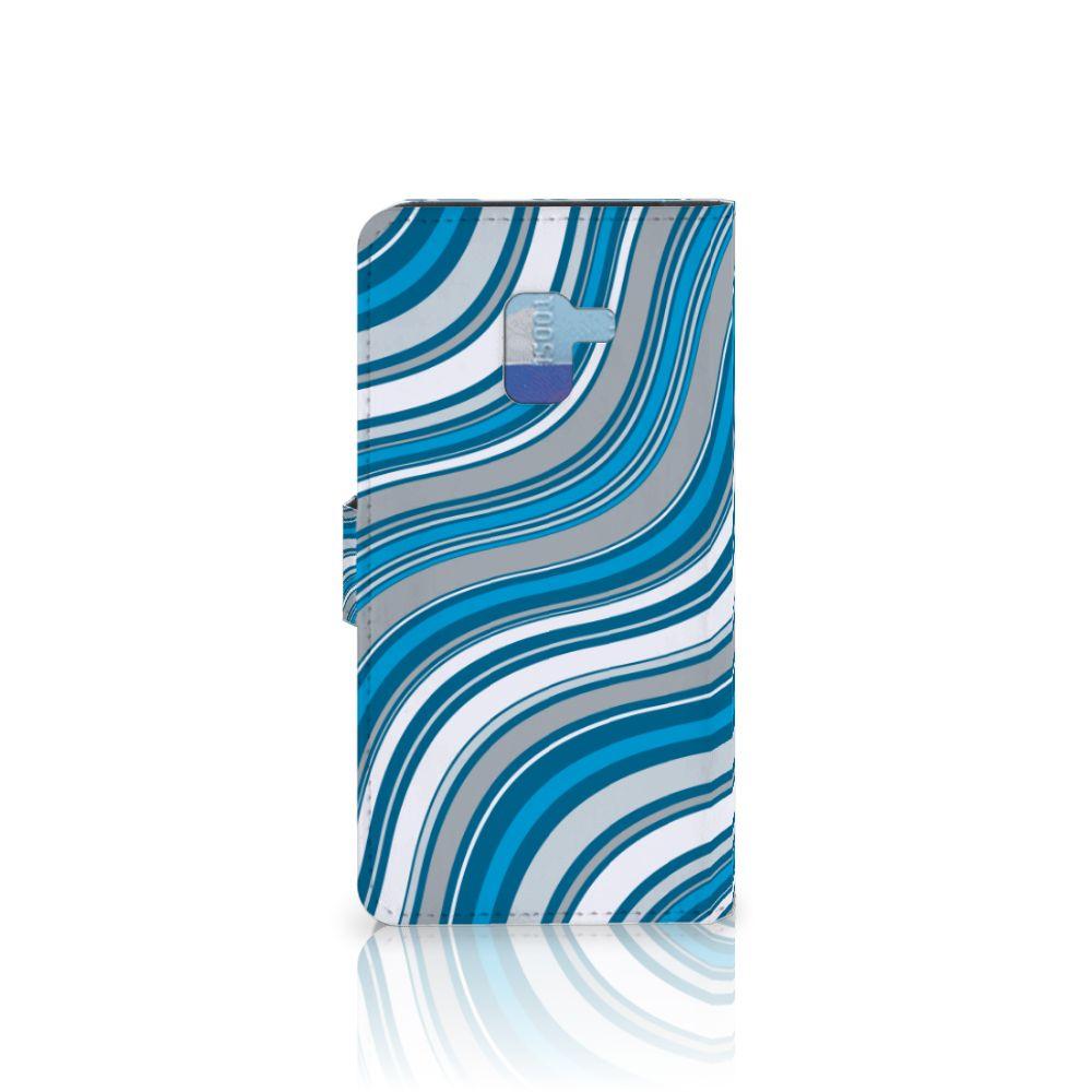 Samsung Galaxy A8 Plus (2018) Telefoon Hoesje Waves Blue