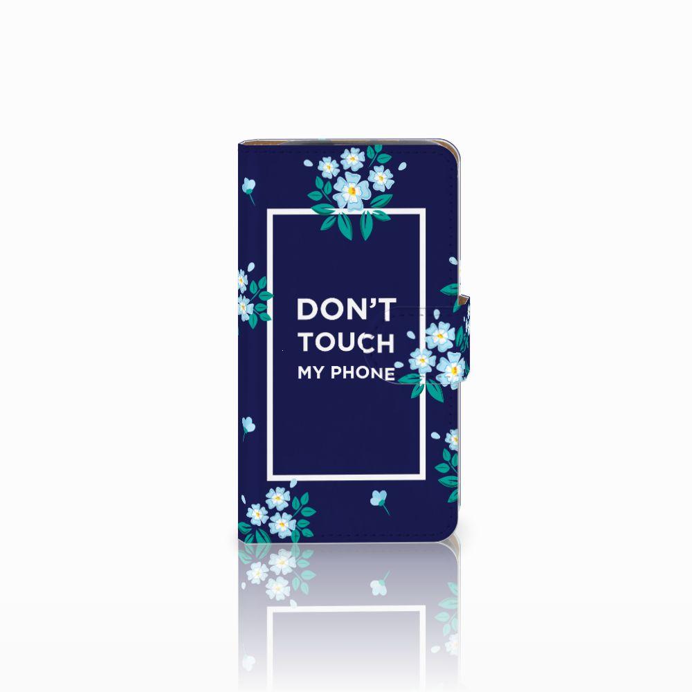 HTC Desire 310 Boekhoesje Flowers Blue DTMP