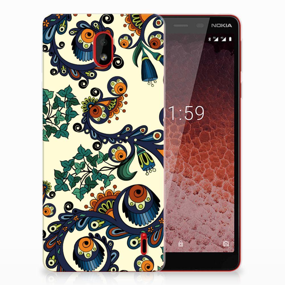 Siliconen Hoesje Nokia 1 Plus Barok Flower