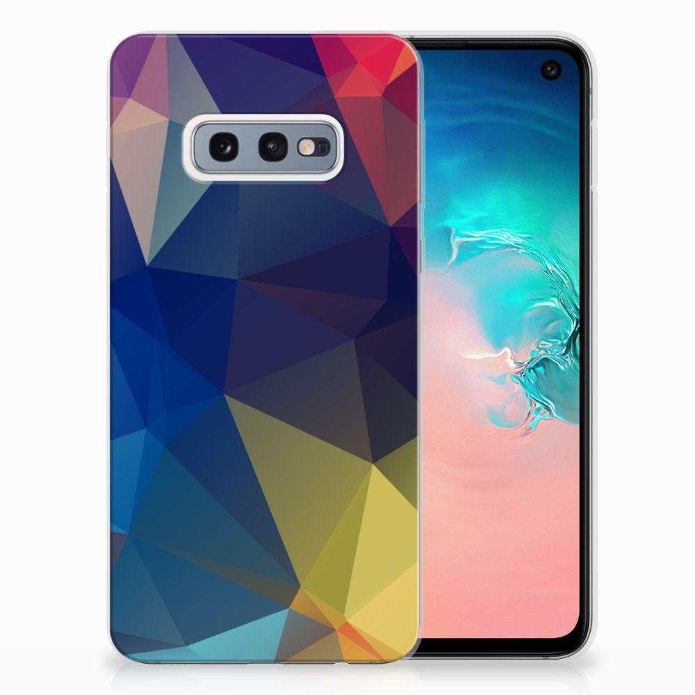 Samsung Galaxy S10e TPU Hoesje Polygon Dark