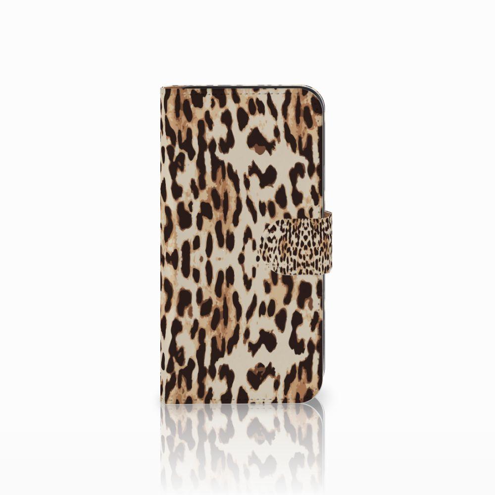 Samsung Galaxy E5 Uniek Boekhoesje Leopard