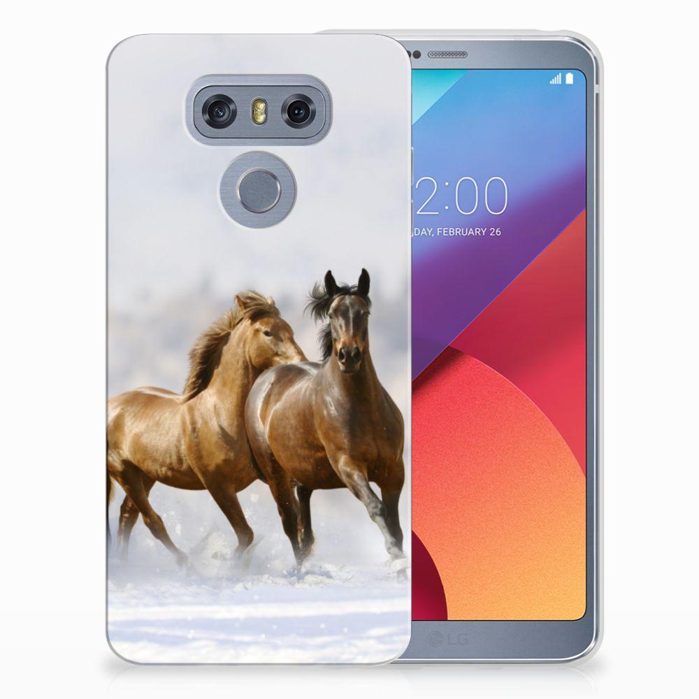 LG G6 Uniek TPU Hoesje Paarden