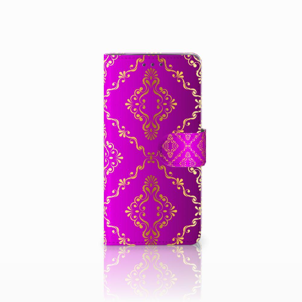 Wallet Case Motorola Moto X4 Barok Roze