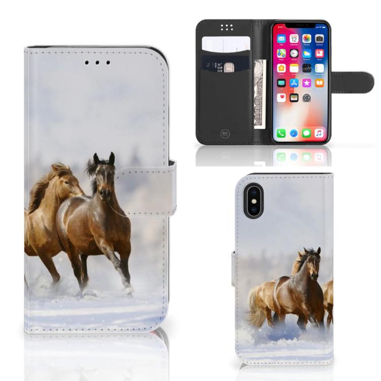 Apple iPhone X | Xs Telefoonhoesje met Pasjes Paarden