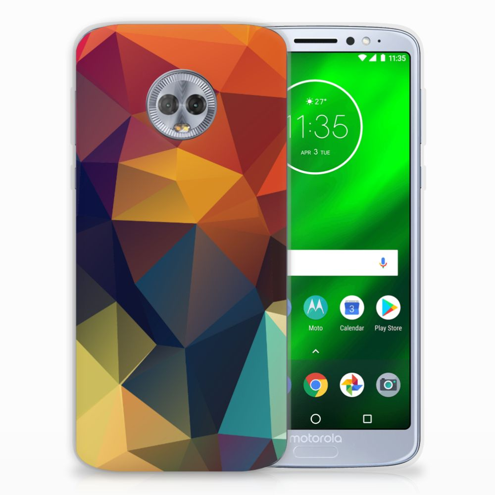 Motorola Moto G6 Plus TPU Hoesje Polygon Color