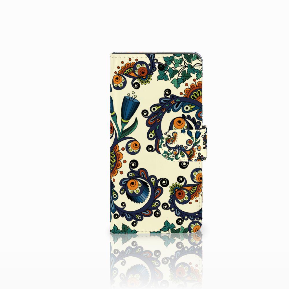 Huawei P8 Lite Smart (GR3) Boekhoesje Design Barok Flower
