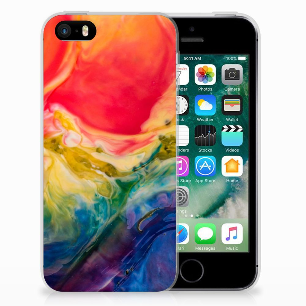 Hoesje maken Apple iPhone SE | 5S Watercolor Dark