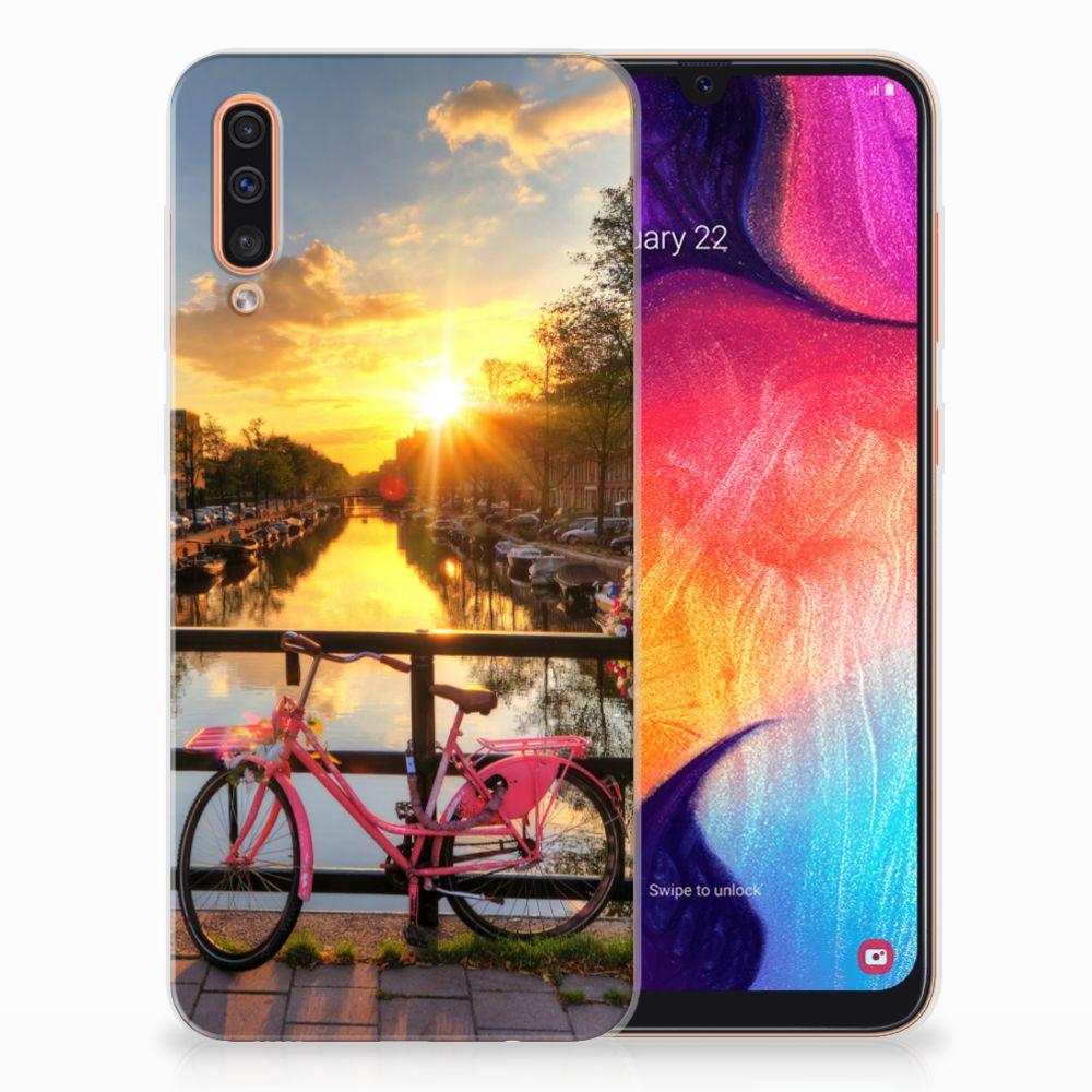 Samsung Galaxy A50 Siliconen Back Cover Amsterdamse Grachten