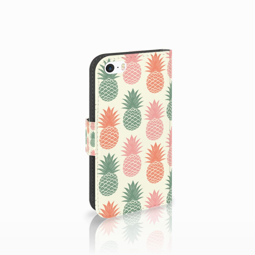 Apple iPhone 5 | 5s | SE Boekhoesje Design Ananas