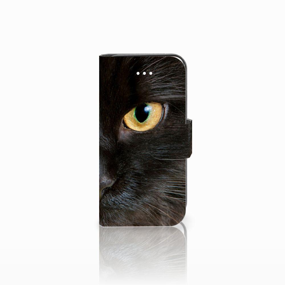 Apple iPhone 5 | 5s | SE Uniek Boekhoesje Zwarte Kat